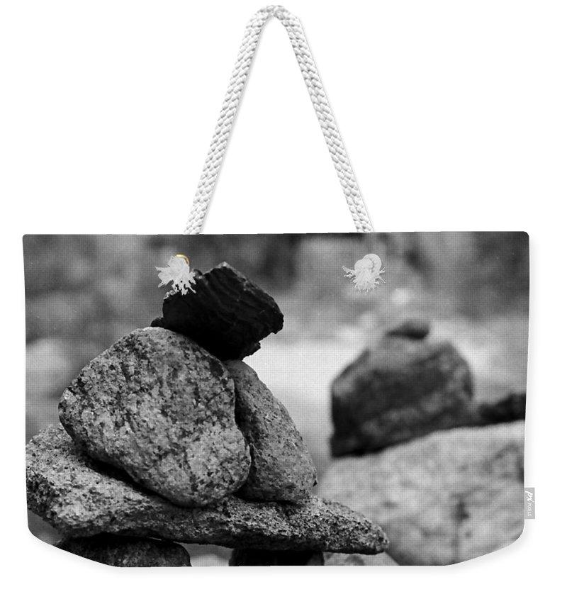 Buddhist Weekender Tote Bag featuring the photograph Tranquility Rocks Buddhist Monastery Carmel Ny by Joseph Mari