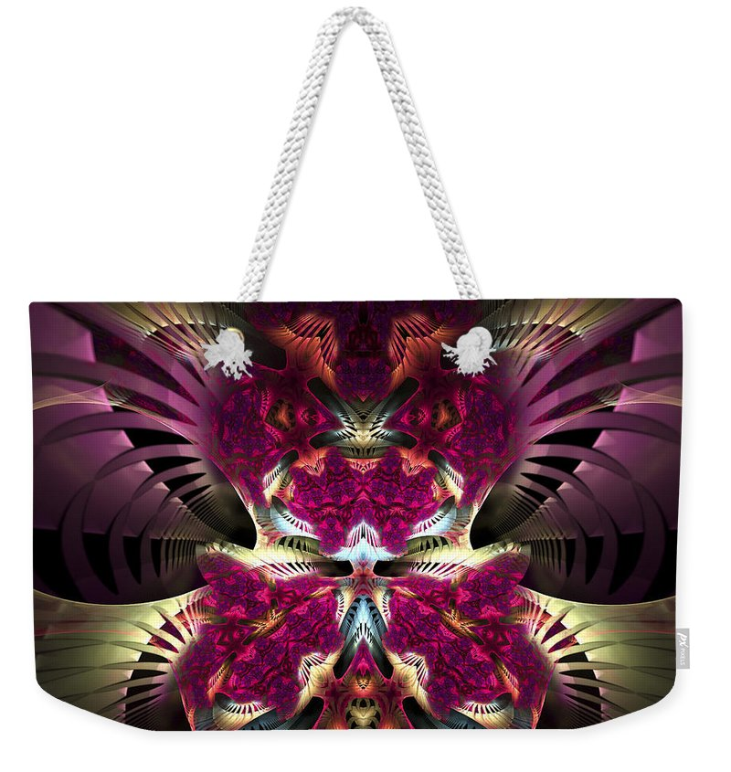 Fractal Weekender Tote Bag featuring the digital art Transfigured Future by Amorina Ashton