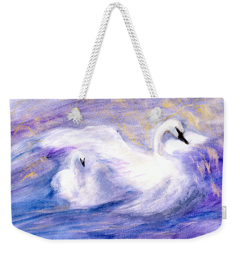 Birds Weekender Tote Bag featuring the painting Transformation by Gail Kirtz