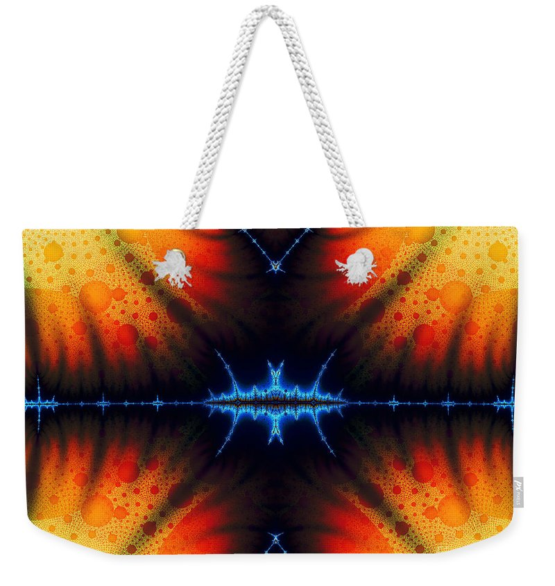 Clay Weekender Tote Bag featuring the digital art Transient Propagation by Clayton Bruster
