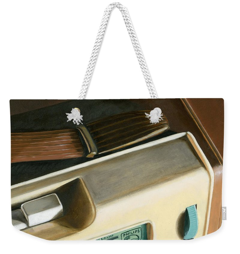 Vintage Weekender Tote Bag featuring the painting Transistor Radio by Rob De Vries