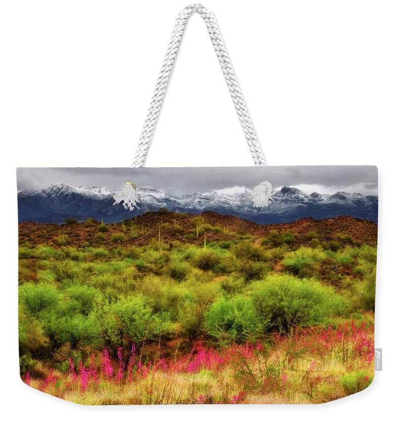 Arizona Weekender Tote Bag featuring the photograph Transition by Rick Furmanek