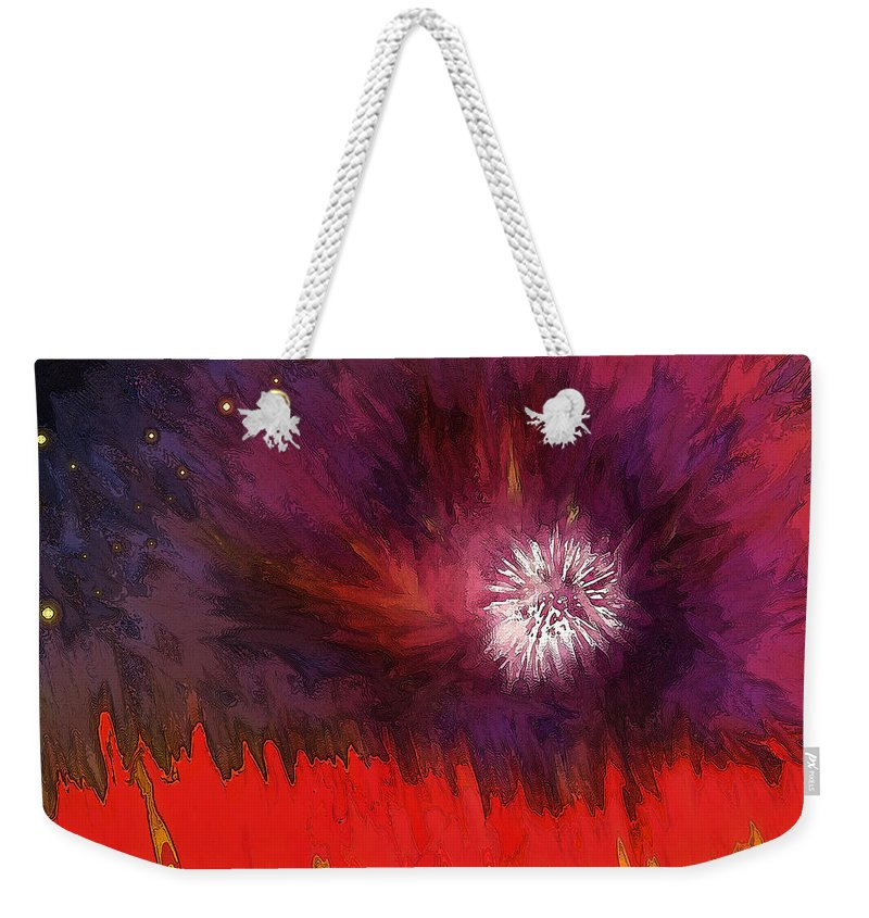 Abstract Weekender Tote Bag featuring the digital art Transition Six by Ian MacDonald