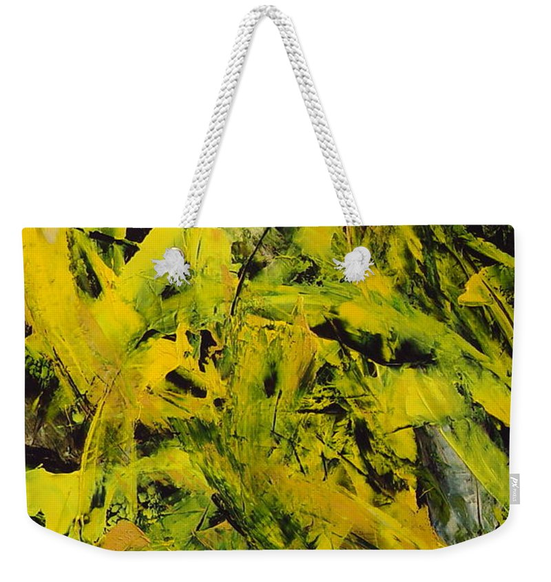 Abstract Weekender Tote Bag featuring the painting Transitions Vi by Dean Triolo