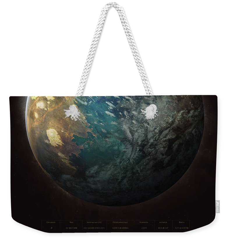 Sciencie Weekender Tote Bag featuring the digital art Trappist-1d by Guillem H Pongiluppi