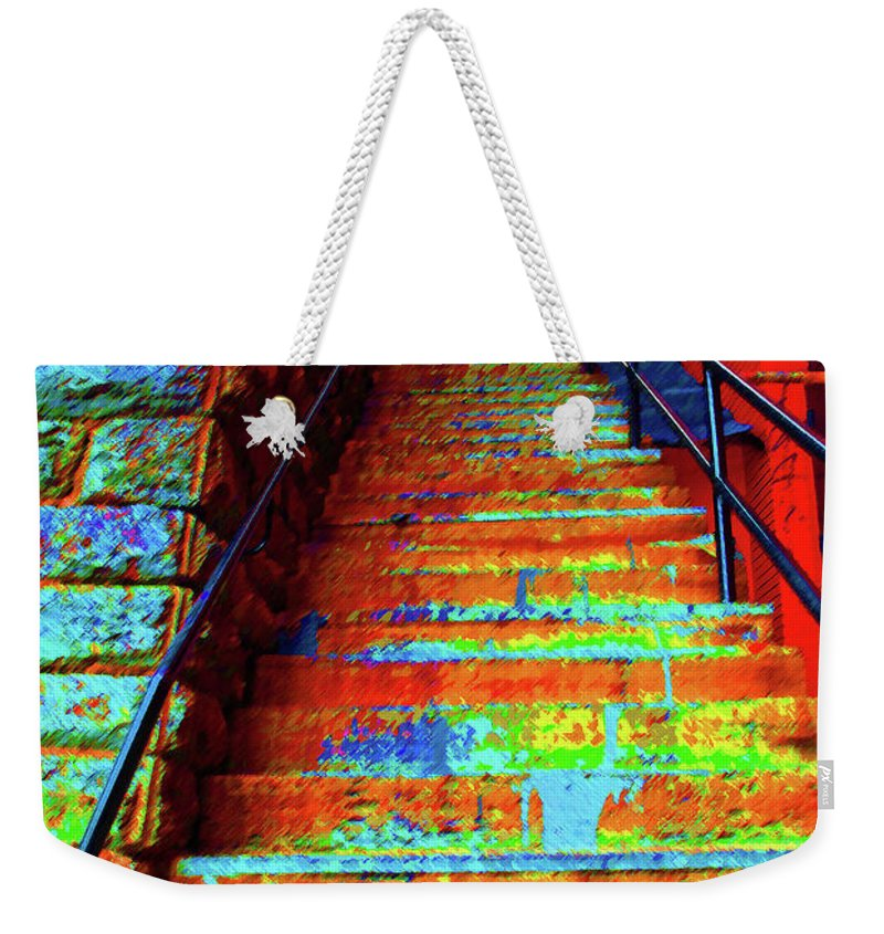 Georgetown Weekender Tote Bag featuring the photograph Travel-exorcist Steps by Jost Houk