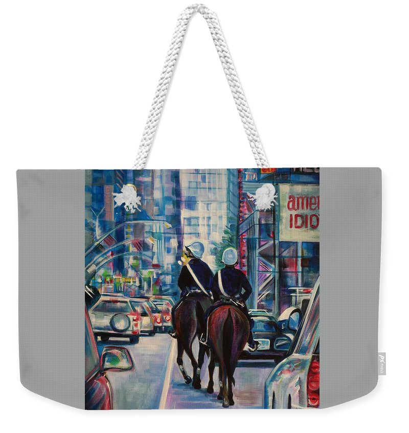 Anna Duyunova Fine Art Weekender Tote Bag featuring the painting Travel Notebook. New York. Third Day by Anna Duyunova
