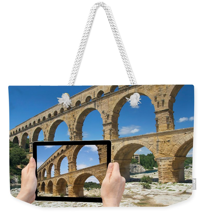 Ancient Weekender Tote Bag featuring the photograph Travel To Pont Du Gard by Jaroslav Frank