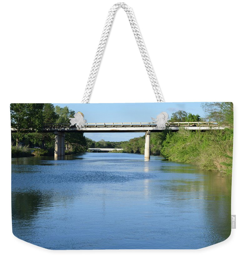 Landscape Weekender Tote Bag featuring the photograph Travel by Tyeshia Barnes