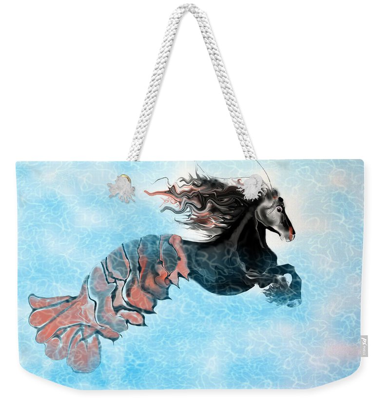 Weekender Tote Bag featuring the digital art Traveler by Subbora Jackson