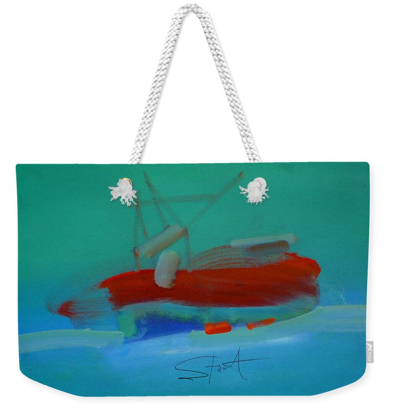 Fishing Boat Weekender Tote Bag featuring the painting Trawler by Charles Stuart