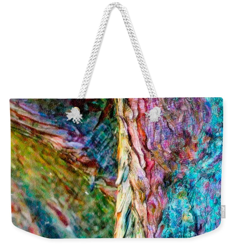 Abstract Weekender Tote Bag featuring the photograph Tree Bark by Stefan H Unger