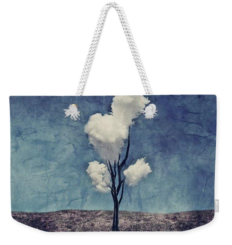 Tree Weekender Tote Bag featuring the digital art Tree Clouds 01d2 by Aimelle