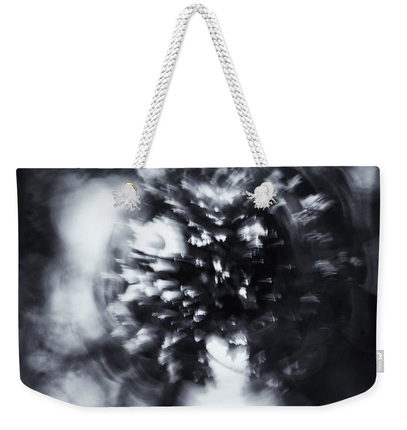 Abstract Weekender Tote Bag featuring the photograph Tree Implosion by Scott Wyatt