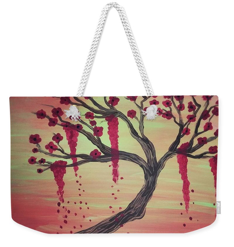 Tree Weekender Tote Bag featuring the painting Tree Of Desire 2 by Vale Anoa'i