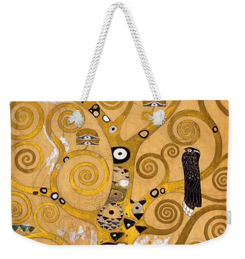 Klimt Weekender Tote Bag featuring the painting Tree Of Life by Gustav Klimt