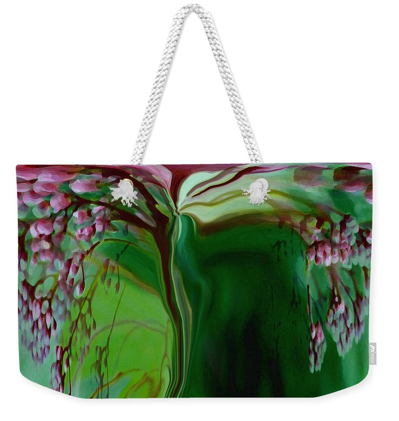 Tree Life Art Weekender Tote Bag featuring the digital art Tree Of Life by Linda Sannuti