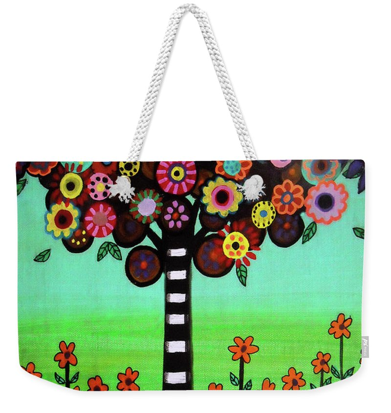 Pristine Weekender Tote Bag featuring the painting Tree Of Life by Pristine Cartera Turkus
