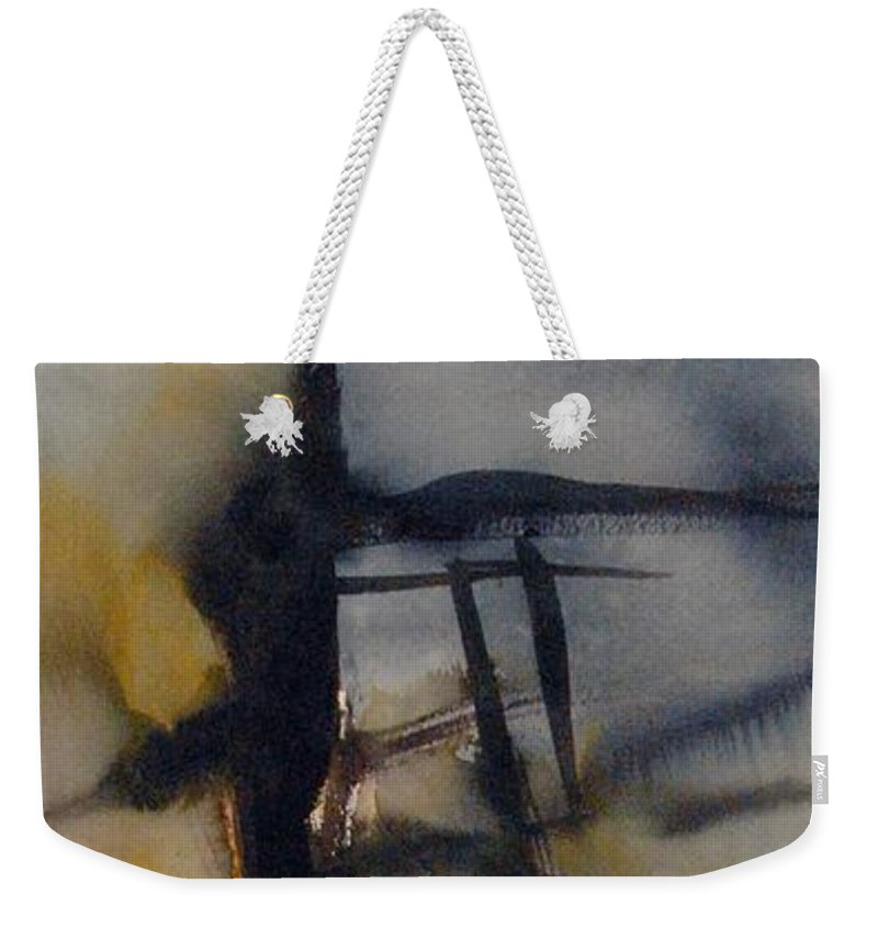 Tree Abstracted Original Watercolor Silhouette Open Branches Limbs Trees Weekender Tote Bag featuring the painting Tree Series Vi by Leila Atkinson