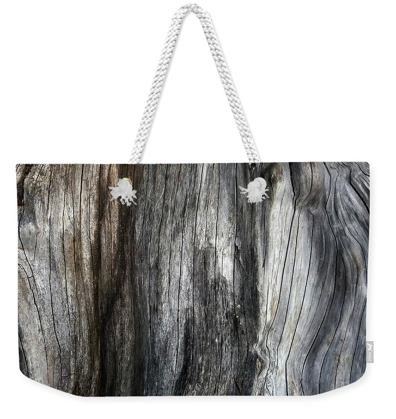 Tree Trunk Weekender Tote Bag featuring the photograph Tree Trunk Abstract Detail by Nareeta Martin