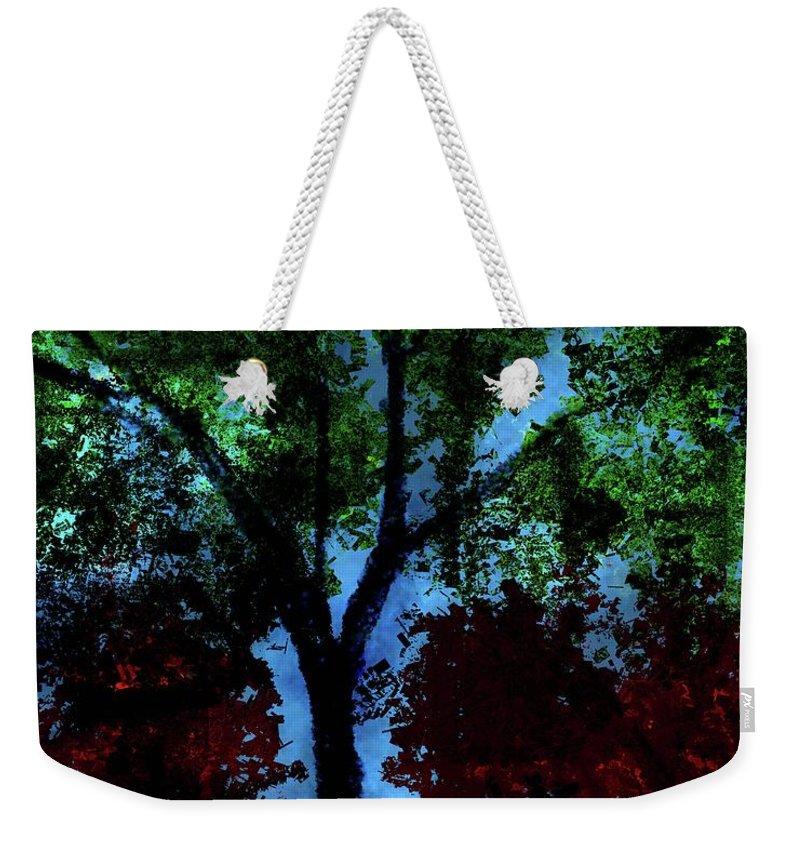 Weekender Tote Bag featuring the digital art Tree by Vijay Prakash