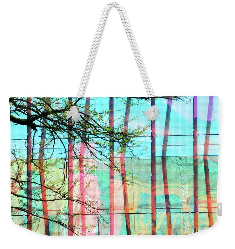 Tree Weekender Tote Bag featuring the photograph Tree With Glass by Randall Weidner
