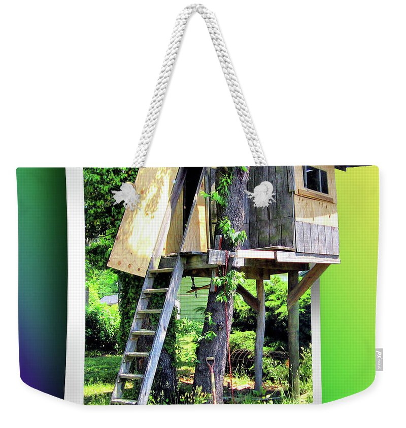 2d Weekender Tote Bag featuring the photograph Treehouse Fort by Brian Wallace