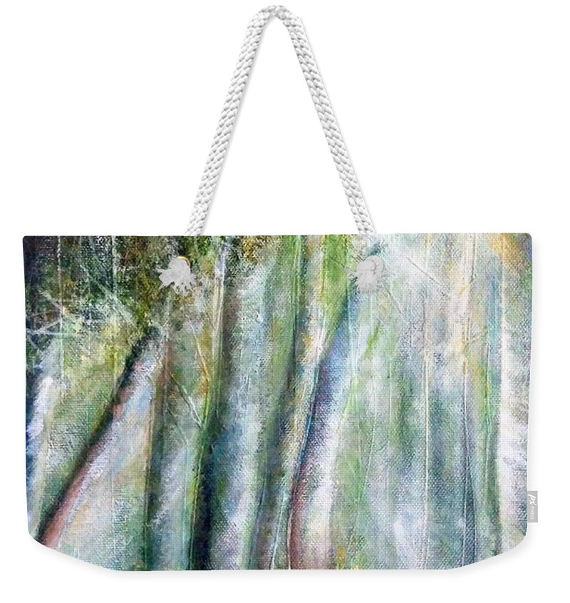 Weekender Tote Bag featuring the painting Trees 1 by Anthony Camilleri