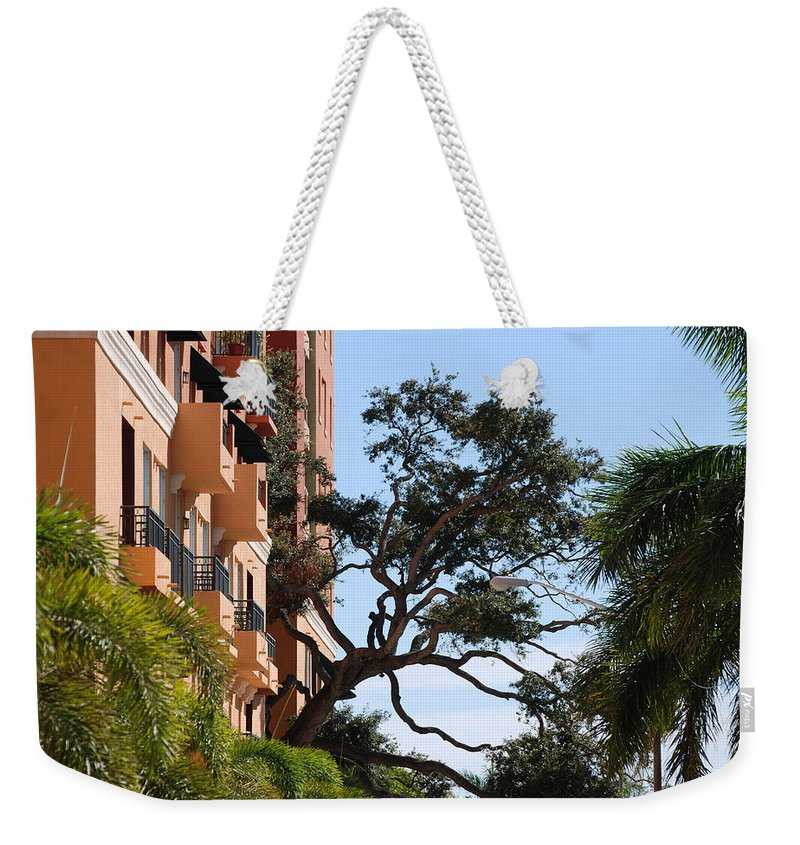 Architecture Weekender Tote Bag featuring the photograph Trees In Space by Rob Hans