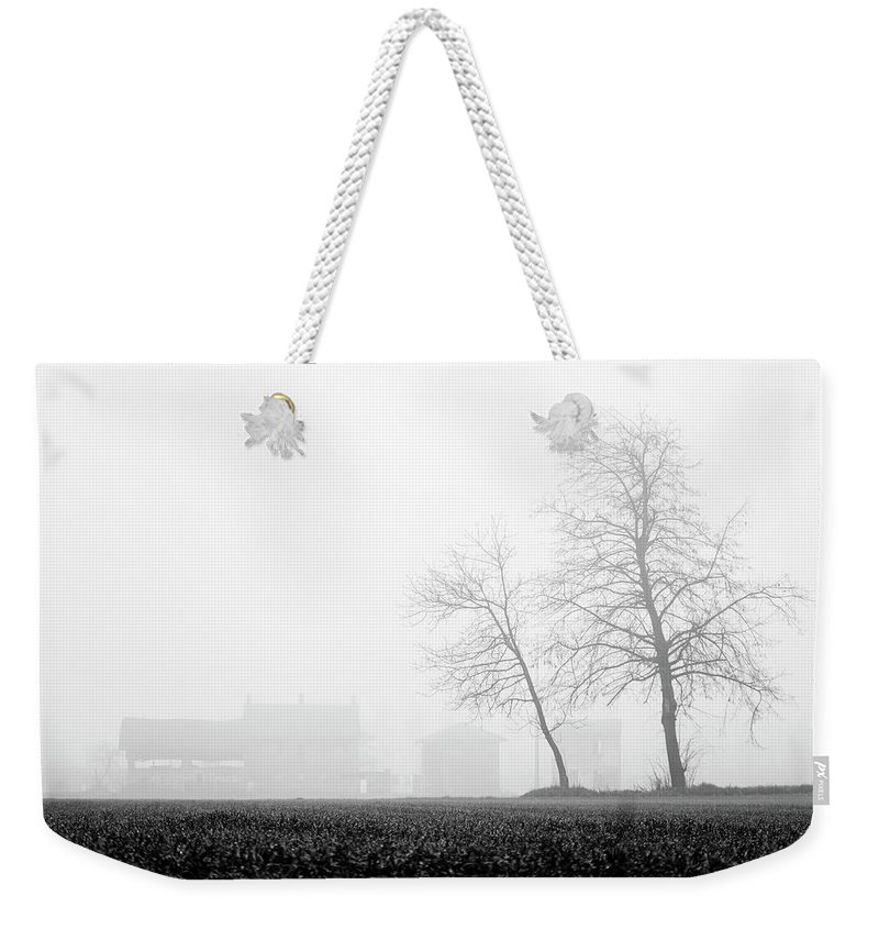 Calm Weekender Tote Bag featuring the photograph Trees In The Fog 2 Of 4 - Lombardy / Italy by Massimo Mazza