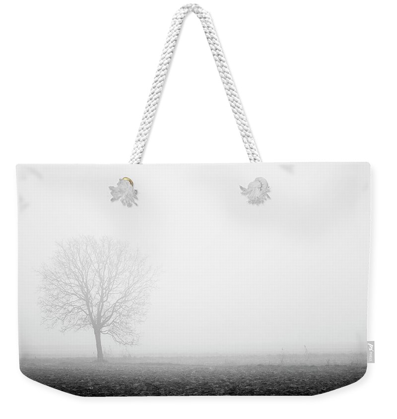 Calm Weekender Tote Bag featuring the photograph Trees In The Fog 3 Of 4 - Lombardy / Italy by Massimo Mazza
