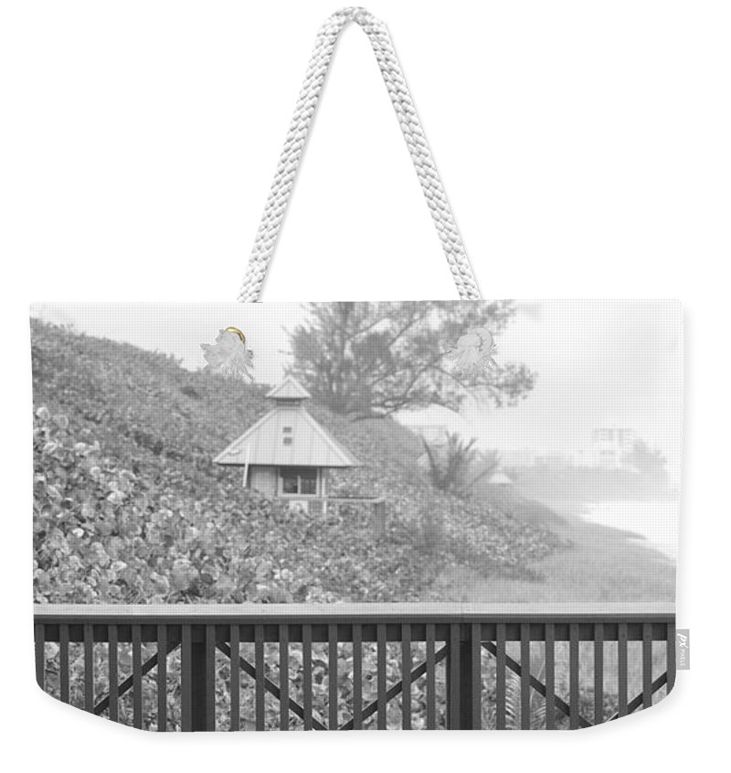 Black And White Weekender Tote Bag featuring the photograph Trees On The Hill by Rob Hans
