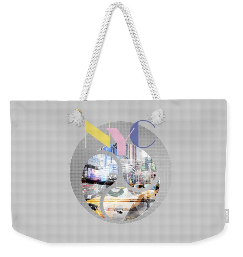 New York City Weekender Tote Bag featuring the photograph Trendy Design New York City Geometric Mix No 1 by Melanie Viola