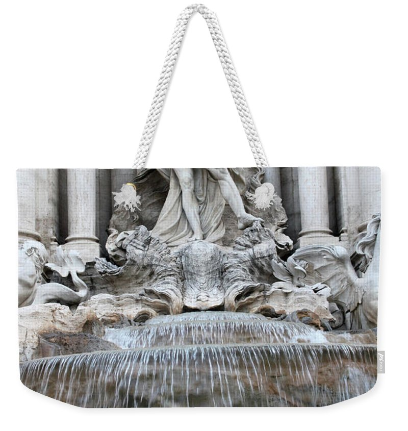 Trevi Weekender Tote Bag featuring the photograph Trevi Fountain Rome by Munir Alawi