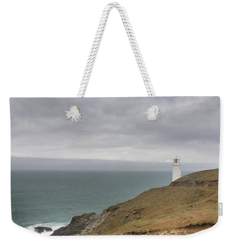 Head Weekender Tote Bag featuring the photograph Trevose Head by Chris Smith