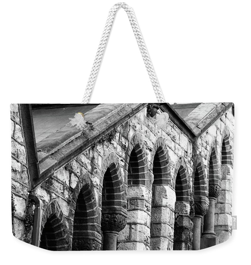 Architecture Weekender Tote Bag featuring the photograph Triangle View by Lori Tambakis