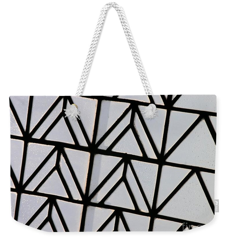 Triangles Weekender Tote Bag featuring the photograph Triangles by Carole Irving