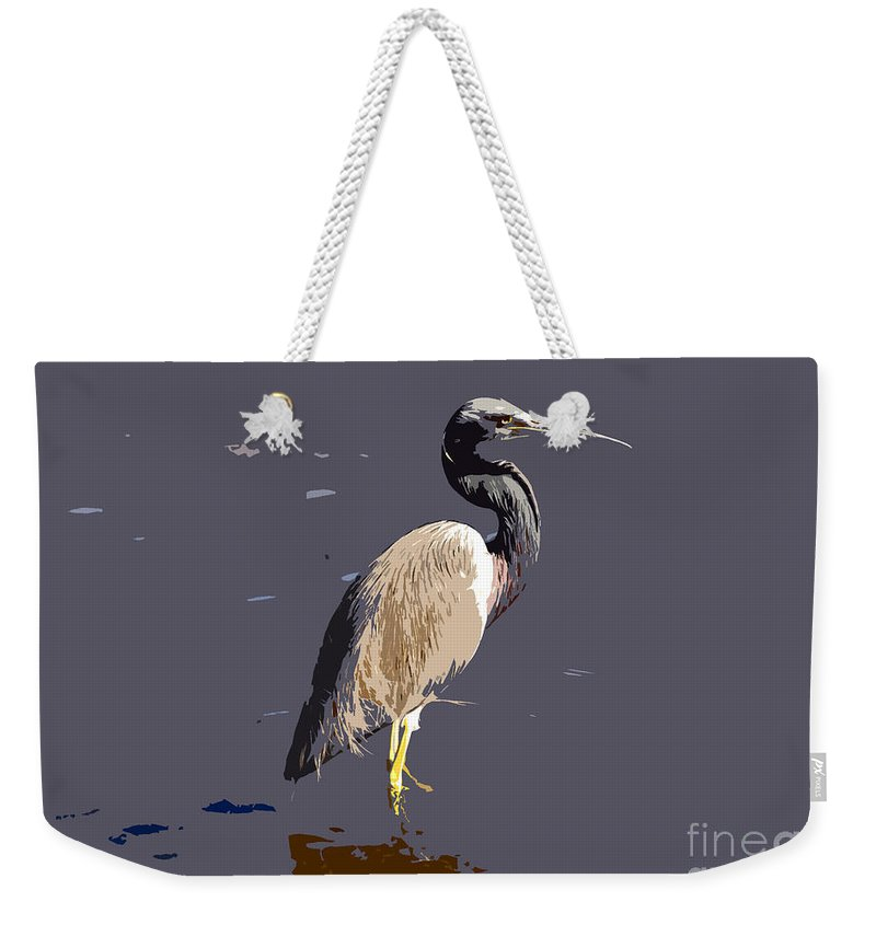 Tricolor Ed Heron Weekender Tote Bag featuring the photograph Tricolored Heron by David Lee Thompson