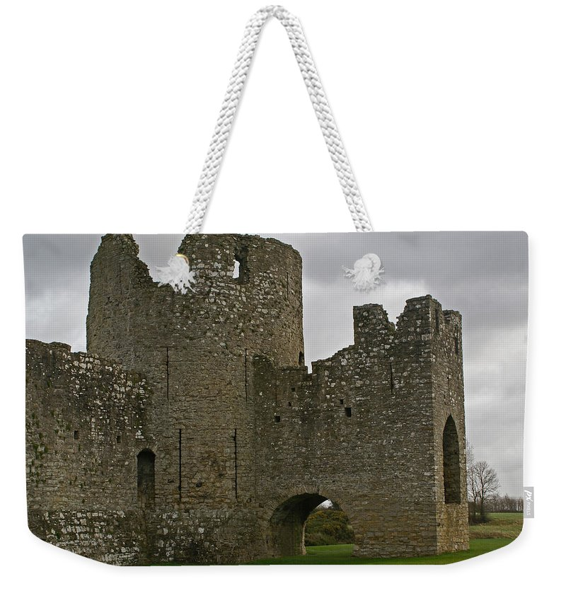 Castle Weekender Tote Bag featuring the photograph Trim Castle, Ireland by Maria Keady