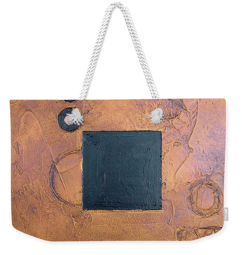 Sets Weekender Tote Bag featuring the mixed media Trimetal Three by Marlene Burns