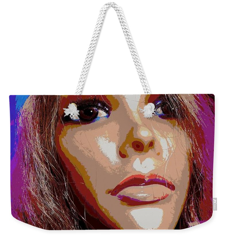 Abstract Weekender Tote Bag featuring the digital art Trina by Ed Weidman