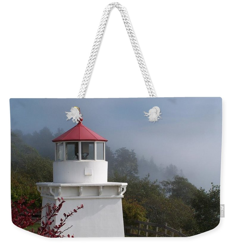 Lighthouse Weekender Tote Bag featuring the photograph Trinidad Head Lighthouse by Gale Cochran-Smith