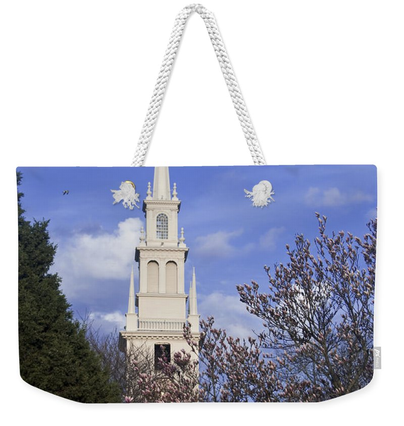 Trinity Church Weekender Tote Bag featuring the photograph Trinity Church In Spring by Steven Natanson