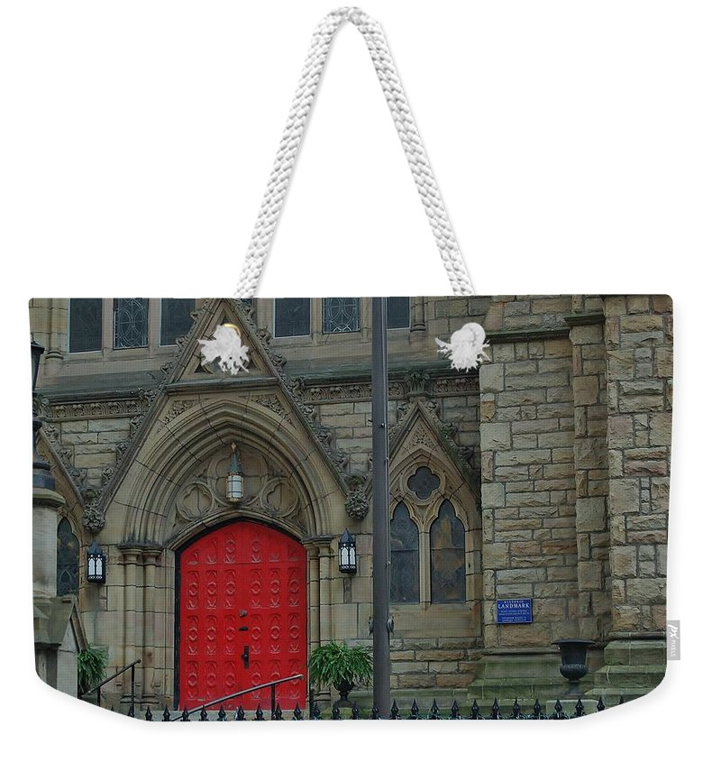 Trinity Episcopal Cathedral Weekender Tote Bag featuring the photograph Trinity Episcopal Cathedral by Christopher James