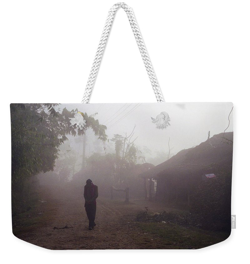 Nepal Weekender Tote Bag featuring the photograph Tristesse by Patrick Klauss