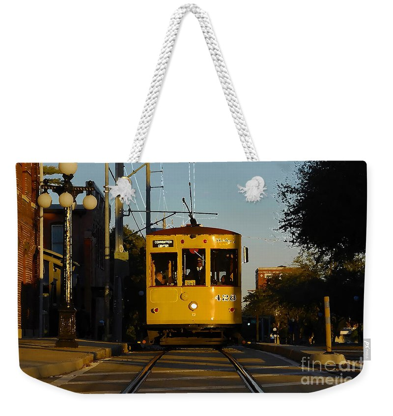Trolley Weekender Tote Bag featuring the photograph Trolley Ride by David Lee Thompson