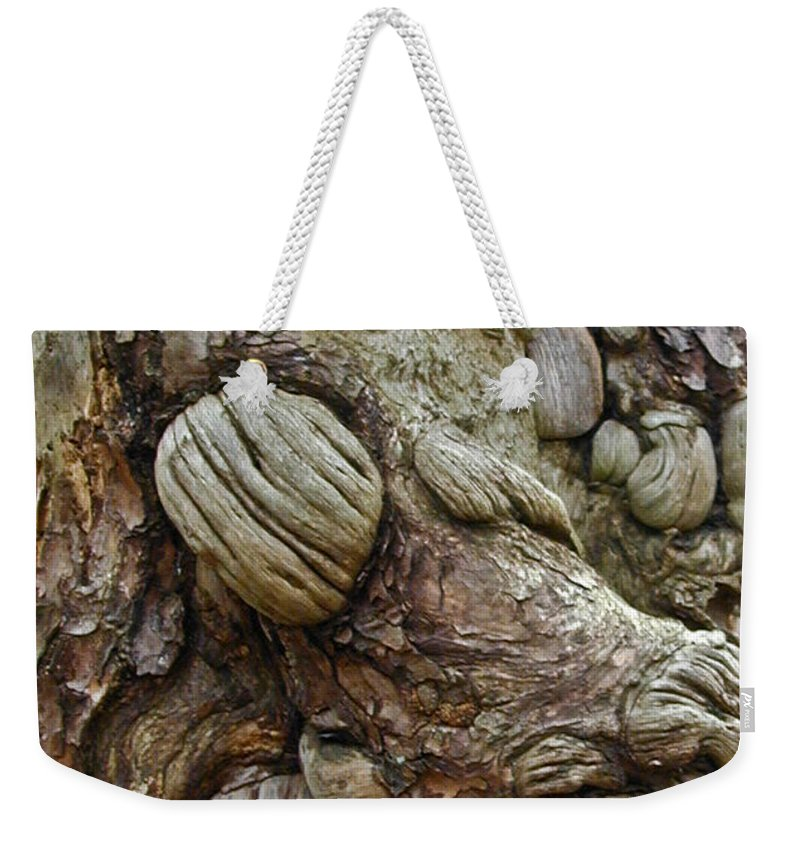 Troll Weekender Tote Bag featuring the photograph Trolls Skin by Douglas Barnett