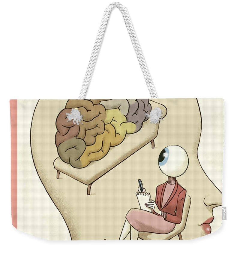 145235 Weekender Tote Bag featuring the painting Trompe-l'Oeil by Christoph Niemann