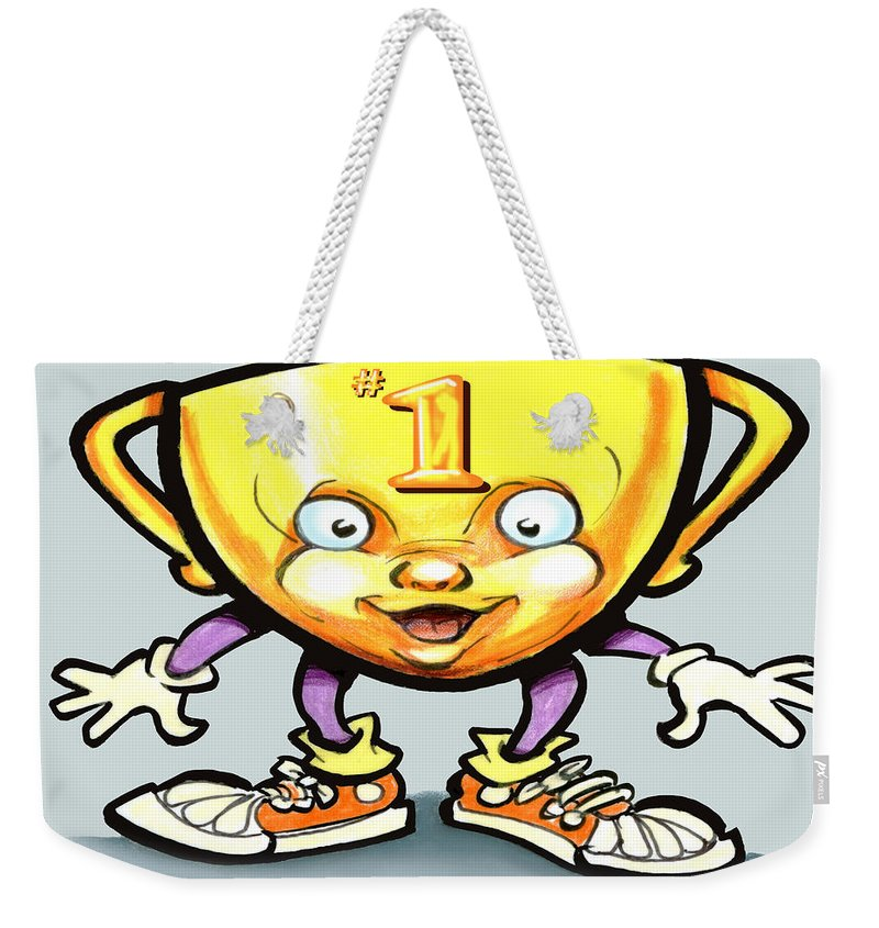 Trophy Weekender Tote Bag featuring the digital art Trophy by Kevin Middleton