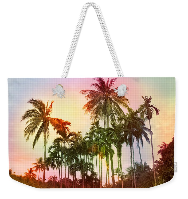 Tropical Weekender Tote Bag featuring the photograph Tropical 11 by Mark Ashkenazi
